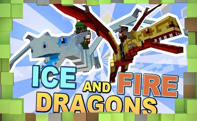 Скачать Мод Ice and Fire Dragon Драконы для Minecraft